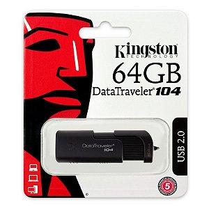 PEN DRIVE DT104/64GB PRETO - KINGSTON