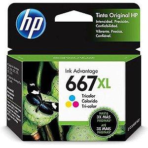 CARTUCHO HP 667XL 3YM80AL COLORIDO - 8ML