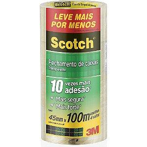 FITA DE EMPACOTAMENTO SCOTCH 5802 TRANSPARENTE 45MMX100M C/4 UNIDADES - 3M