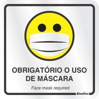 PLACA USO DE MÁSCARA - SINALIZE