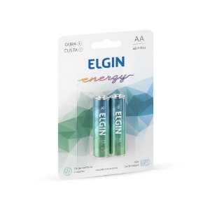 PILHA ALCALINA AA C/2 UNIDADES - ELGIN