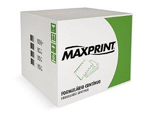 FORMULÁRIO CONTINUO 80 COLUNAS 3V BRANCO C/1000 JOGOS - MAXPRINT
