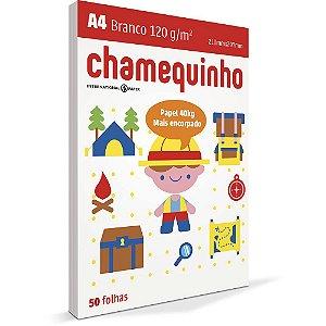 PAPEL CHAMEQUINHO A4 120G BRANCO - 50 FLS