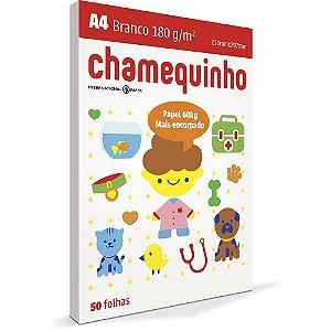 PAPEL CHAMEQUINHO A4 180G BRANCO - 50 FLS