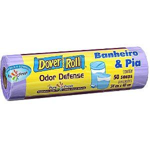 SACO PARA LIXO BANHEIRO & PIA ODOR DEFENSE C/50 UNIDADES - DOVER-ROLL