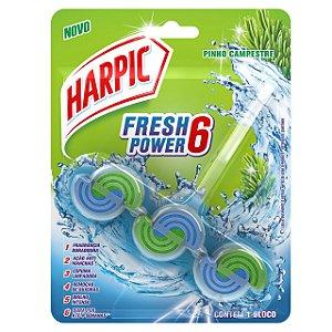 BLOCO PERFUMADO FRESH POWER 6 PINHO CAMPESTRE - HARPIC