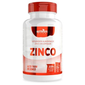 Zinco Quelato 300% IDR 60 Cápsulas - Nutrivale