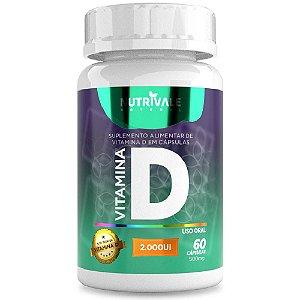 Vitamina D3 (Colecalciferol) 2.000UI 60 Cápsulas - Nutrivale
