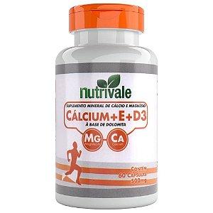 Calcium + Vitamina E + Vitamina D3 500mg 60 cápsulas - Nutrivale
