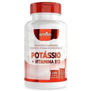 Potássio + Vitamina B12 600mg 60 cápsulas - Nutrivale