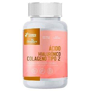 Ácido Hialurônico + Colágeno Tipo 2 + Vitamina C 500mg 100 cápsulas - Denature