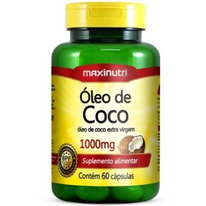 Óleo de Coco 60 Cápsulas - Maxinutri