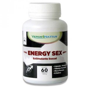 Estimulante Sexual Natural Energy Sex 60 cápsulas - Verde Nattus
