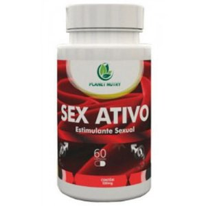 Sex Ativo Estimulante Sexual Natural - 60 Cápsulas - Verde Nattus
