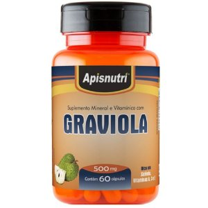 Graviola 60caps de 500mg - Apisnutri