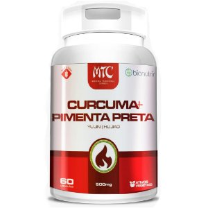 Cúrcuma Longa Com Pimenta Preta 60 cápsulas - Bionutrir