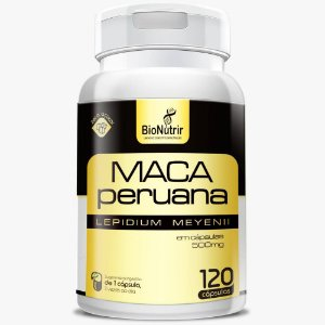 Maca peruana 500mg 120 cápsulas - Bionutrir