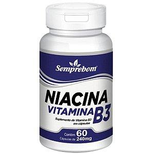 Vitamina B3 (Niacina) 60 cápsulas - Semprebom