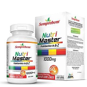Nutri Master ( Polivitamínico A a Z) 60 comprimidos - Semprebom