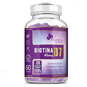 Biotina (Vitamina B7) 60 cápsulas - Flora Nativa