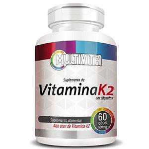 Vitamina k2 (Menaquinona-7)  60 cápsulas - Multivita