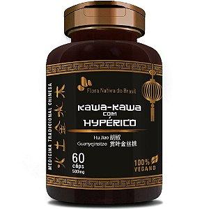 Kawa-Kawa com Hipérico  60 cápsulas - Flora Nativa
