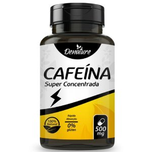 Cafeína Super Concentrada 100 cápsulas - Denature