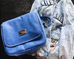 Bolsa Transversal Carteiro Azul