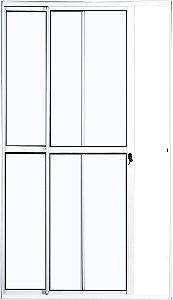 Porta Balcão 2 folhas - aluminio branco - linha PLUS