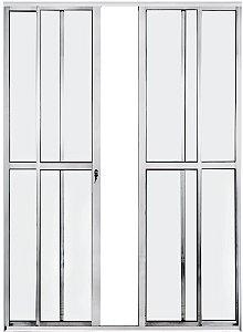 Porta Balcão 4 folhas - aluminio Brilhante - linha PLUS