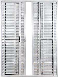 Porta Balcão 6 folhas - aluminio Brilhante - linha PLUS