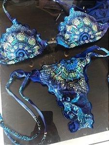 Biquinis Ripple Gelo Azul com calcinha empina