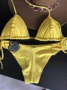 Biquinis Cortininha TRANÇADO Amarelo coleçao 2019