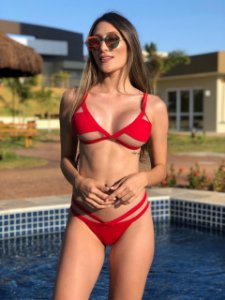 Biquinis Cortininha New Tule Red