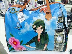 MALA Azul - Menina Londres