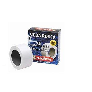 Fita Veda Rosca Para Canos 18mm x 10 Metros Adelbras