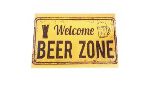 Tapete Capacho Decorativo Para Entrada 40x60 Beer Zone