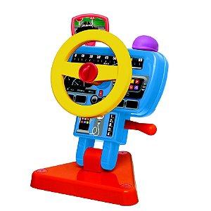Brinquedo P/ Bebe Volante Fom Fom C/ Buzina 1181 Elka