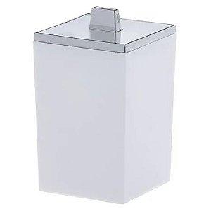 Porta Algodão/Cotonete Branco Quadratta 1561 Paramount
