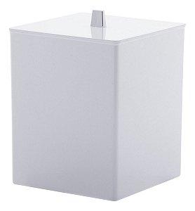 Lixeira Quadrada Branca P/ Banheiro Quadratta 1571 Paramount