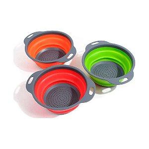 Escorredor e Lava Tudo Em Silicone Dobrável  23 Cm Colors