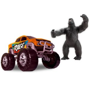 Carrinho Pick-Up Rage Truck - Big Foot C/ Gorila 0035 Samba Toys