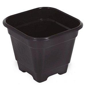 Vaso de Plantas Quadrado Grande30x30x29 Preto 25295 Arqplast