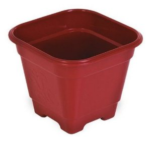 Vaso de Plantas Quadrado Médio 29x29x24,5 Vermelho Arqplast