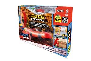 Pista de Corrida Race Looping Faz 360 Graus Com 2 Carrinhos