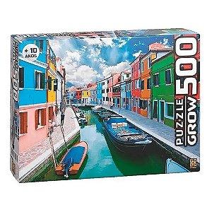 Quebra Cabeça Puzzle 500 Peças Canal de Burano 03457 Grow