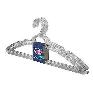 Cabide Crystal Multiuso Kit 4 Pçs 40x16cm 25528 Arqplast