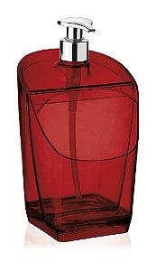 Dispenser / Porta Detergente e Esponja Vermelho 18Cm Millenium