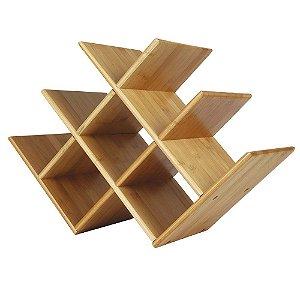 Rack P/ Vinhos Adega 8 Garrafas Bamboo 41x28x16cm 8444 Mor