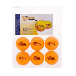 Kit Com 6 Bolinhas Tênis de Mesa Ping Pong #40 484000 Belfix